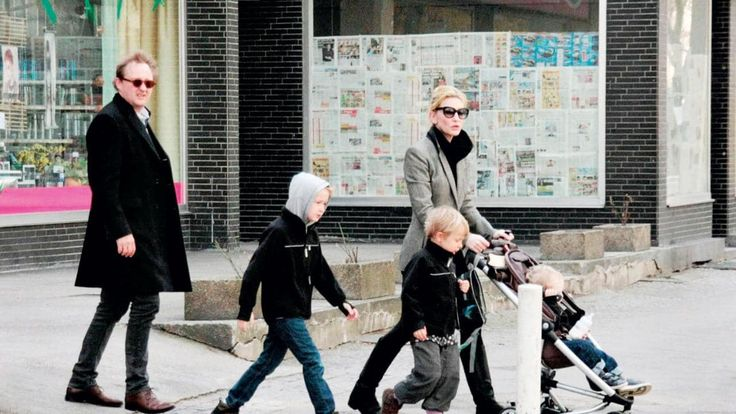 Blanchett with her playwright husband Andrew Upton and their three sons