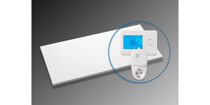 Ecosun infraroodpaneel 700W met thermostaat Na eerst een paneel in de badkamer, nu ook in de woonkamer testen. #nulopdemeter. Doel geen aardgas meer afnemen.