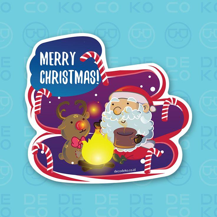 Sticker Santa Claus