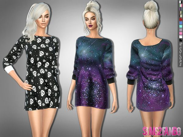 The Sims Resource: 283 - Galena Wide Dress by Sims2fanbg • Sims 4 Downloads