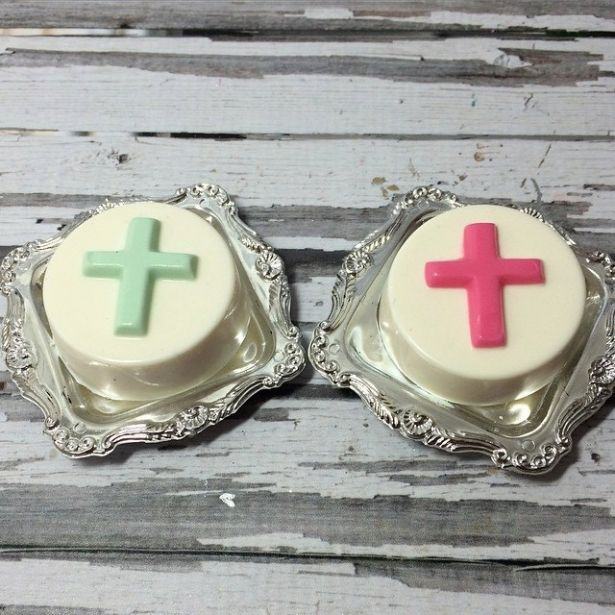 Cross Baptism Communion Christening Chocolate Covered Oreo Party Favors Sweets Table Candy Buffet Corporate Church Event Easter Spring - 12 Pcs (1 Dozen) by Sparkling Sweets Boutique on Gourmly
