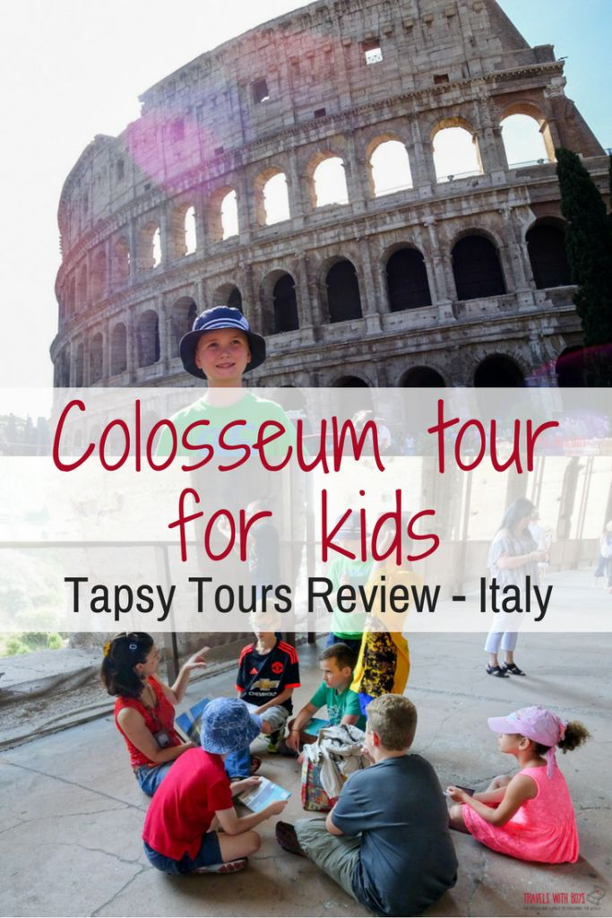 Are you heading to Italy with the kids? The Colosseum is a must. This is one place I would recommend seeing with a kid-friendly tour guide. Take a look at the review of our tour with Tapsy Tours.