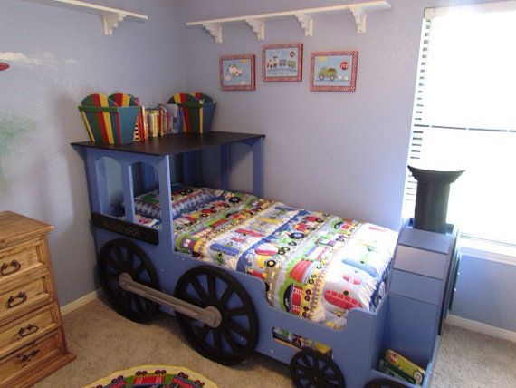 Locomotive Railroad Train Theme Playbed - Full Size - UNFINISHED/UNPAINTED