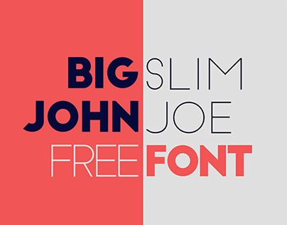 "다음 @Behance 프로젝트 확인: ""Big John / Slim Joe - FREE Font"" https://www.behance.net/gallery/19484739/Big-John-Slim-Joe-FREE-Font"