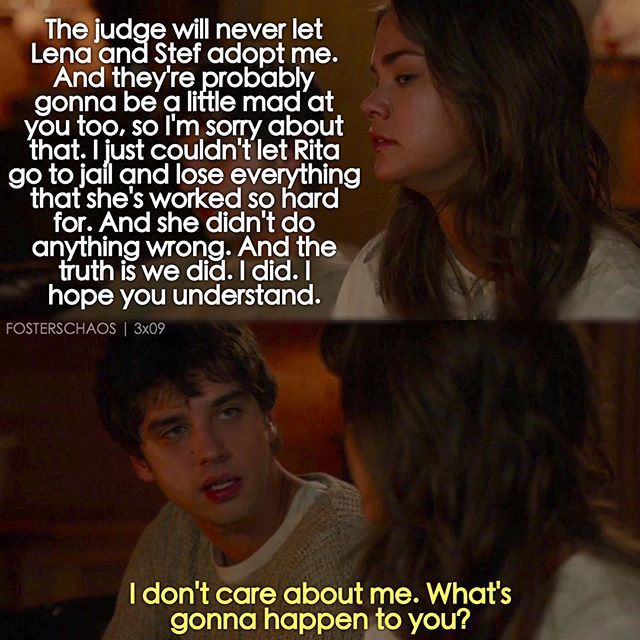 The Fosters 3x09 | She may have done wrong then, but she's making up for it by doing good now.