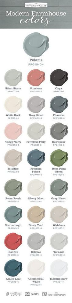 Farmhouse Paint Color. Farmhouse color scheme and paint colors for every room.