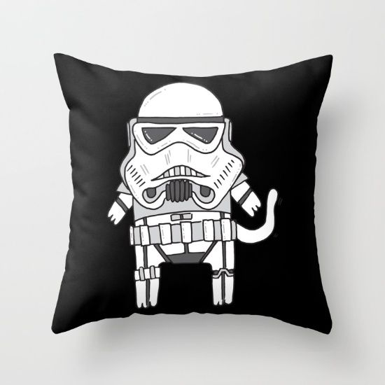 Cat Trooper Throw Pillow