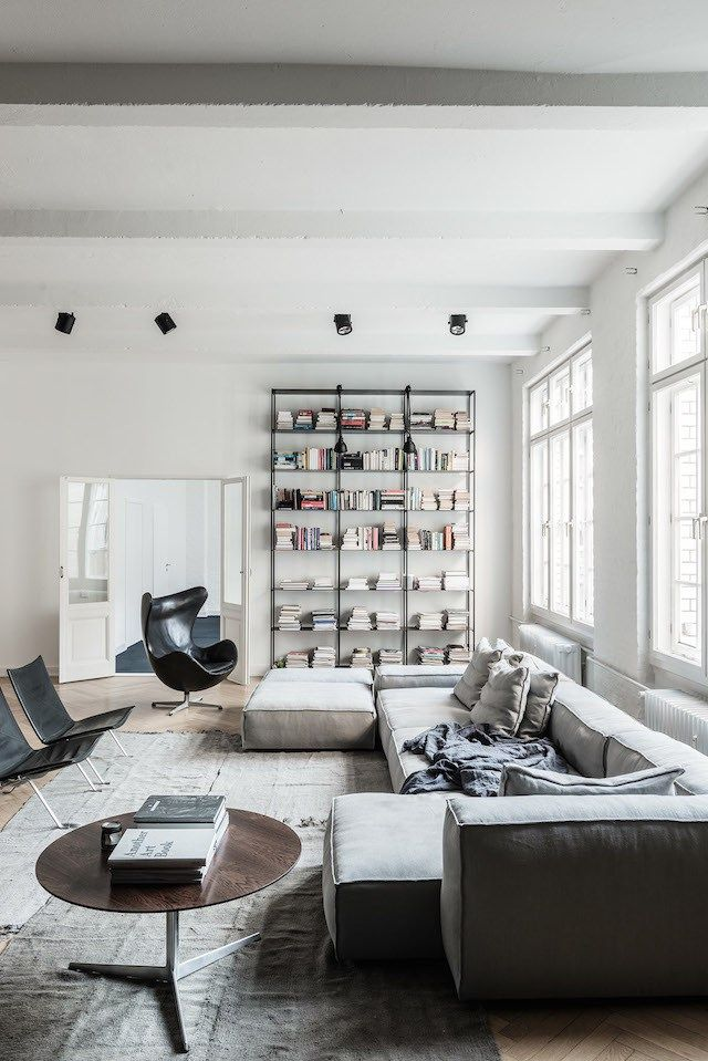 Berlin Loft COCO LAPINE DESIGN Living RoomsLiving SpacesModular CouchTall