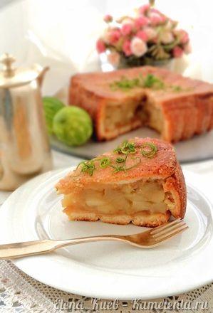 Необычный яблочный пирог   Выпечка сладкая