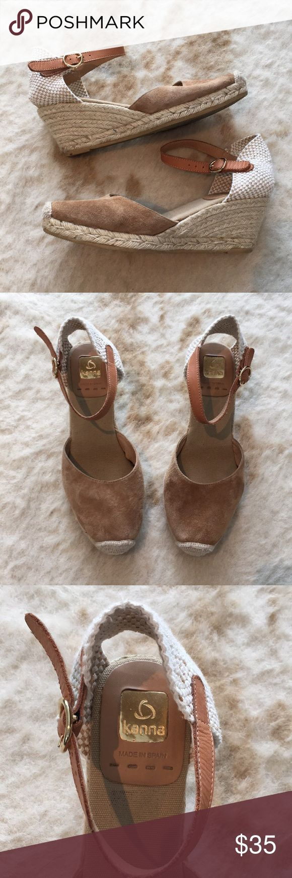 KANNA Closed Toe Espadrilles Wedge Shoes Sz 40 Made in Spain. Nice preowned condition. Perfect for spring/summer! kanna Shoes Wedges
