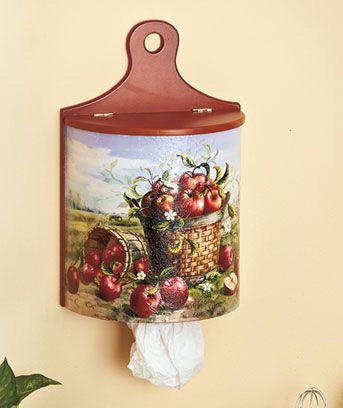 Wall-Mount Wooden Plastic Bag Dispensers $9.95