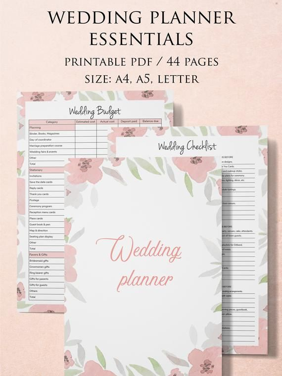 Printable Wedding Planner Diy Planner Engagement Gift For Etsy Wedding Planner Printables Wedding Planning Book Wedding Planner Binder