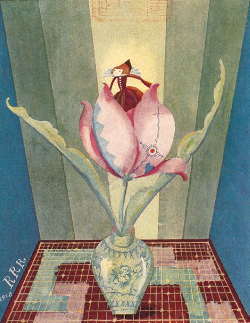 Illustration for the fairy tales of Hans Christian Andersen by Japanese artist Takeo Takei, 1928