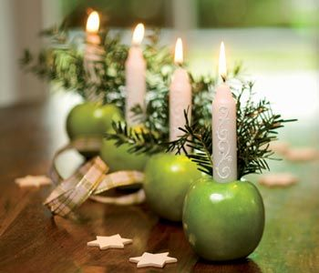 Christmas - Apple candle holders