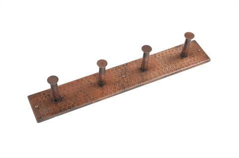 Hand Hammered Copper Quadruple Robe Hook