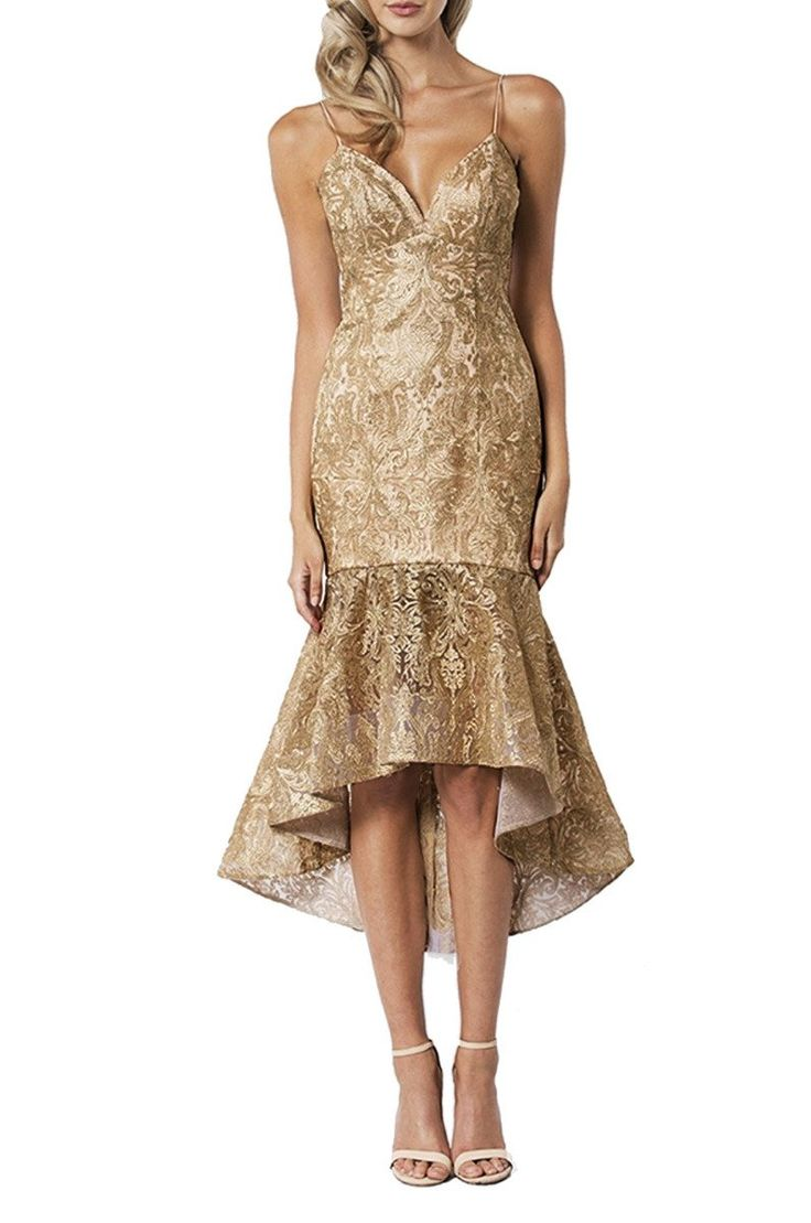 Bariano - Carla Gold Fishtail Dress