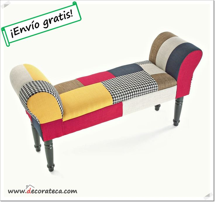 "Banco de Patchwork de diseño ""Provenza"" - DECORATECA.COM"