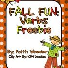 FREE This is an individual verb center for fall that is based off of common core first grade standards.