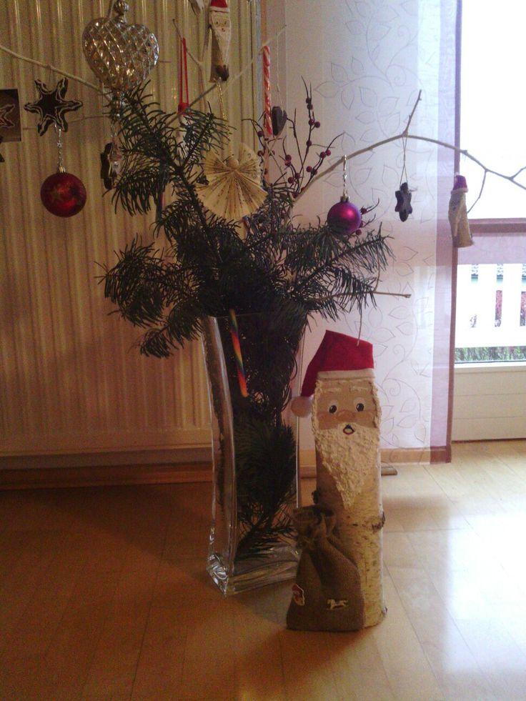 Basteln - Nikolaus aus Birkenholz