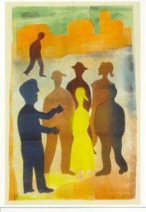 Hendrik Nicolaas Werkman -  'De vertelling op de markt -  A11099 - Postcard