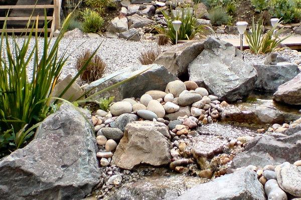 109 best garden ideas 01 images on pinterest backyard for Garden pond gravel