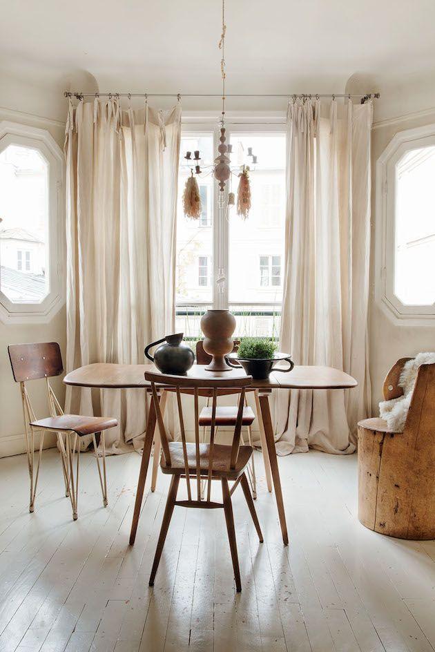 A truly unique, eclectic Paris home. Milk Decoration.