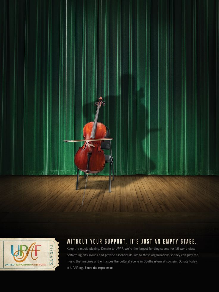 Without your support, it's just an empty stage. Advertising Agency: STIR, Milwaukee, USA Executive Creative Director: Bill Kresse Creative Direct