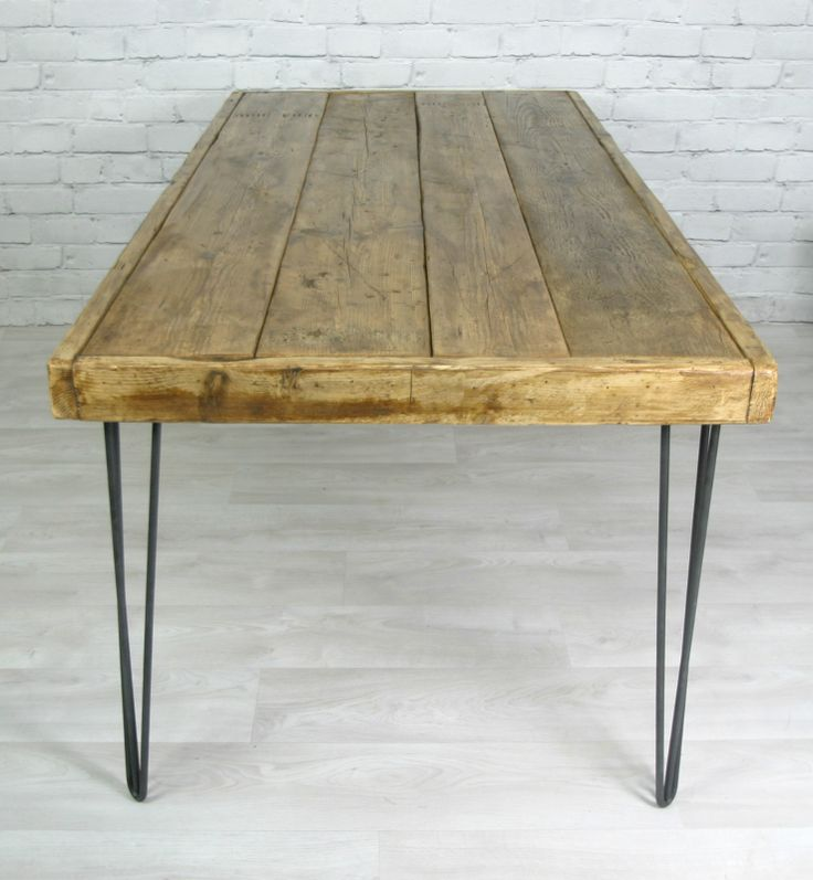 17 best images about scaffolding planks diy on pinterest for Vintage hairpin table legs