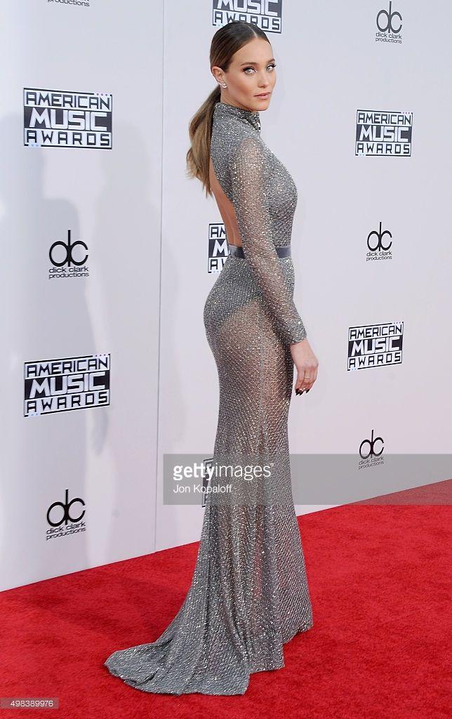 Model Hannah Davis arrives at the 2015 American Music Awards at Microsoft Theater on November 22, 2015 in Los Angeles, California.  (Photo by Jon Kopaloff/FilmMagic)