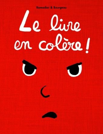 Après le livre qui dort, voici le livre en colère, tellement en colère qu'il est tout rouge ! Mais la colère, heureusement, passe et le livre se calme, se détend petit à petit. Ouf ! Ça y est, le livre n'est plus fâché !
