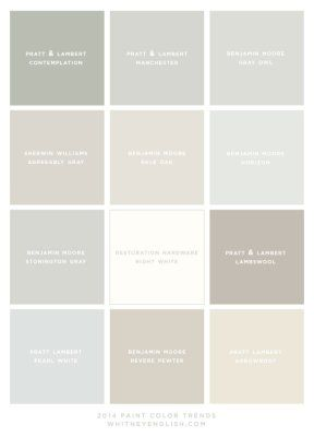 Good neutral paint colors. Looking for a light color for the living room