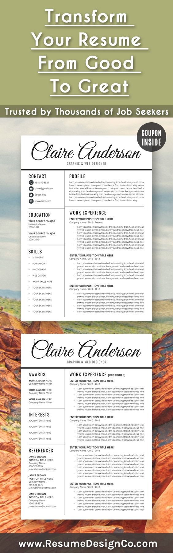 17 best ideas about good cv template good cv format transform your resume from good to great trusted by thousands of job seekers resumedesignco