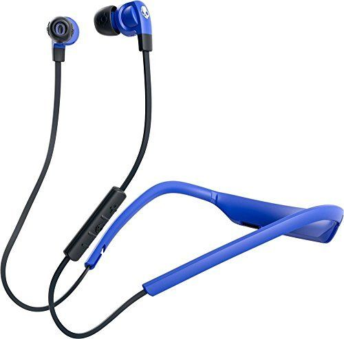 Skullcandy Smokin' Buds 2 In-Ear Bluetooth Wireless Earbuds, Street/Royal Blue Fade (S2PGW-K615). Bluetooth Wireless with 6 Hour Battery Life. Removable Flex Collar. Supreme Sound. Onboard Mic/Remote.