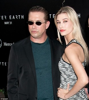 Stephen and Hailey Baldwin at After Earth premiere in New York