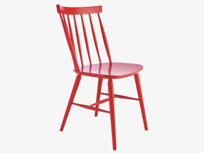 TALIA REDS Wood Red dining chair - Furniture- HabitatUK