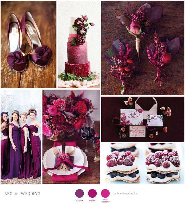 Colori brillanti e vivaci ma allo stesso tempo selvaggi e scuri. Prugna, malva e rosso violaceo è una combinazione davvero sorprendente e sensuale per ...