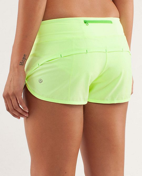 Lululemon Run Speed Short ~ Frond ~