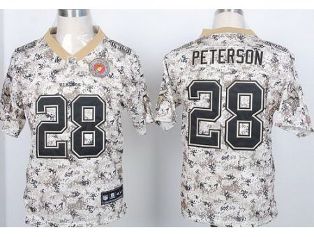 nike minnesota vikings 28 adrian peterson camo us.mccuu nfl elite jerseys wholesale price