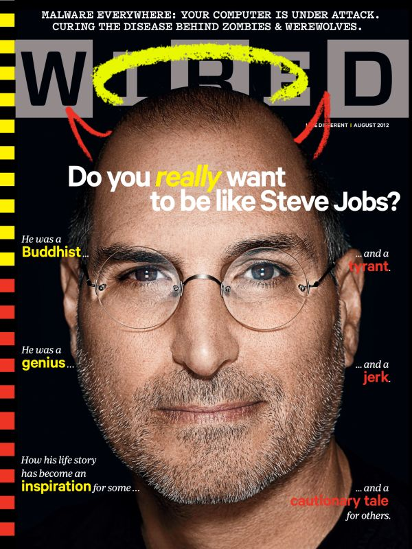 Steve Jobs on the cover of the August 2012 issue of WIRED.
