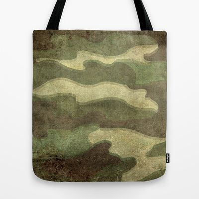 Dirty Camo Tote Bag by Bruce Stanfield - $22.00