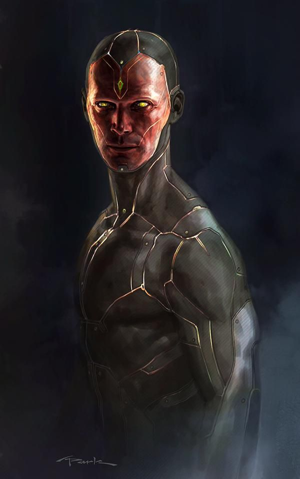 "Concept art of Vision from Marvel's ""Avengers - Age Of Ultron"" (2015)."