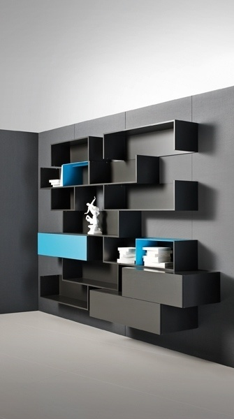Fortepiano shelving storage system from molteni