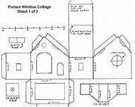 Putz House Pattern | Putz House Pattern - Bing Images | glitter house tutorials