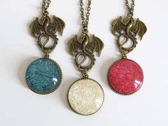 vintage necklace dragon vintage pendants bronze necklaces game of thrones dragons rhaegal drogon viserion mother of dragons