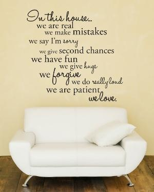 ...: Wall Decal Sticker, Ideas, Quotes, Living Room, In This House, Vinyl Wall Decals, Walldecals