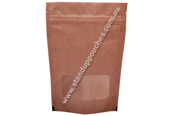This #Packaging style can be designed in such a way that it includes high graphical imagery to effectively display brand's essence.   #BrownKraftPaperbags #Standuppouches #rectanglewindow