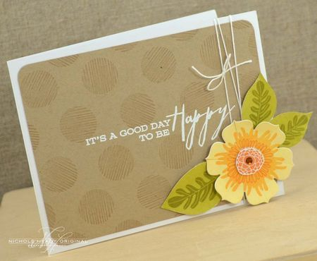 Good Day Card by Nichole Heady for Papertrey Ink (April 2013)