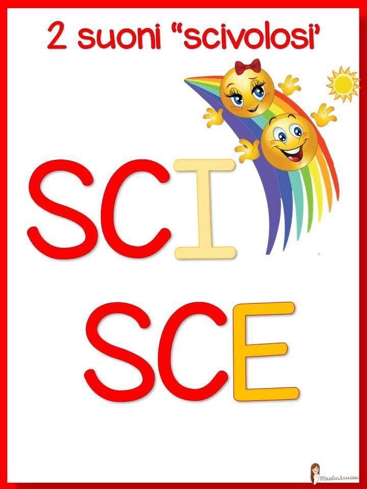 Sci sce grammatica pinterest grammatica italiano e for Filastrocca sci sce