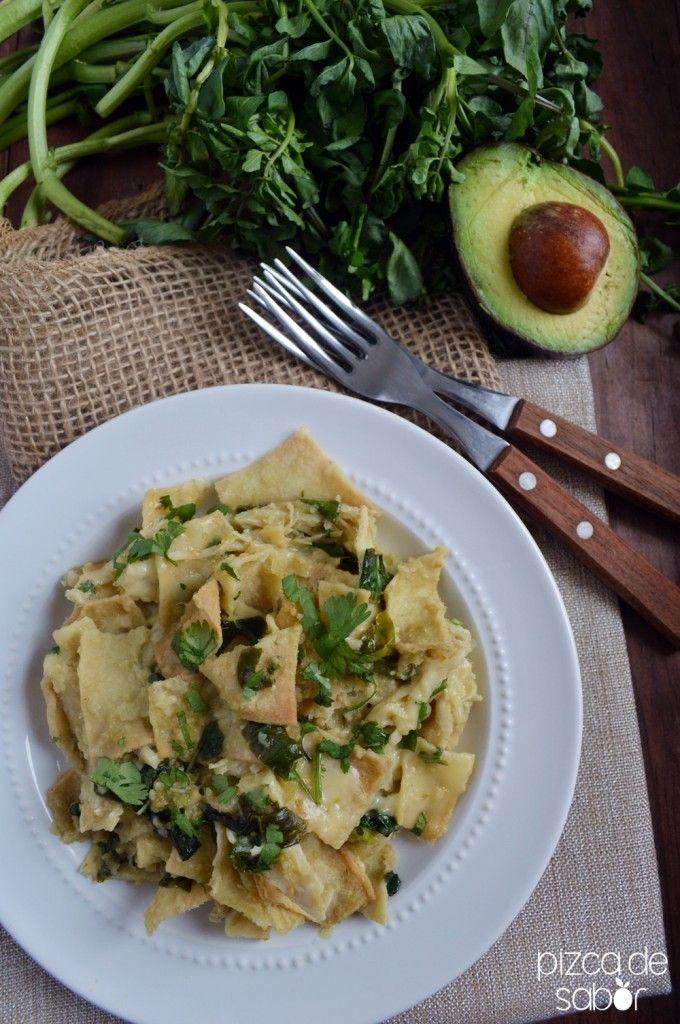 Cómo hacer chilaquiles verdes o rojos (versión saludable) www.pizcadesabor.com