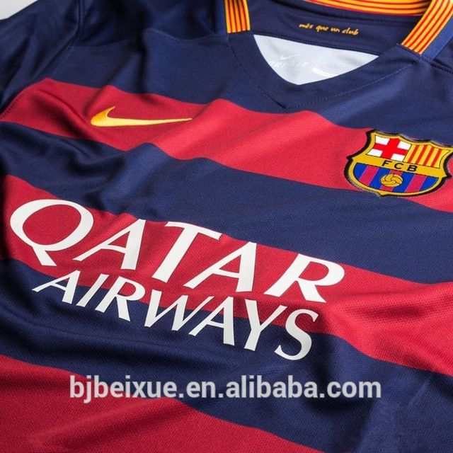 Source 2016 wholesale made in china blank custom thai quality football shirt maker sublimation soccer jersey on m.alibaba.com